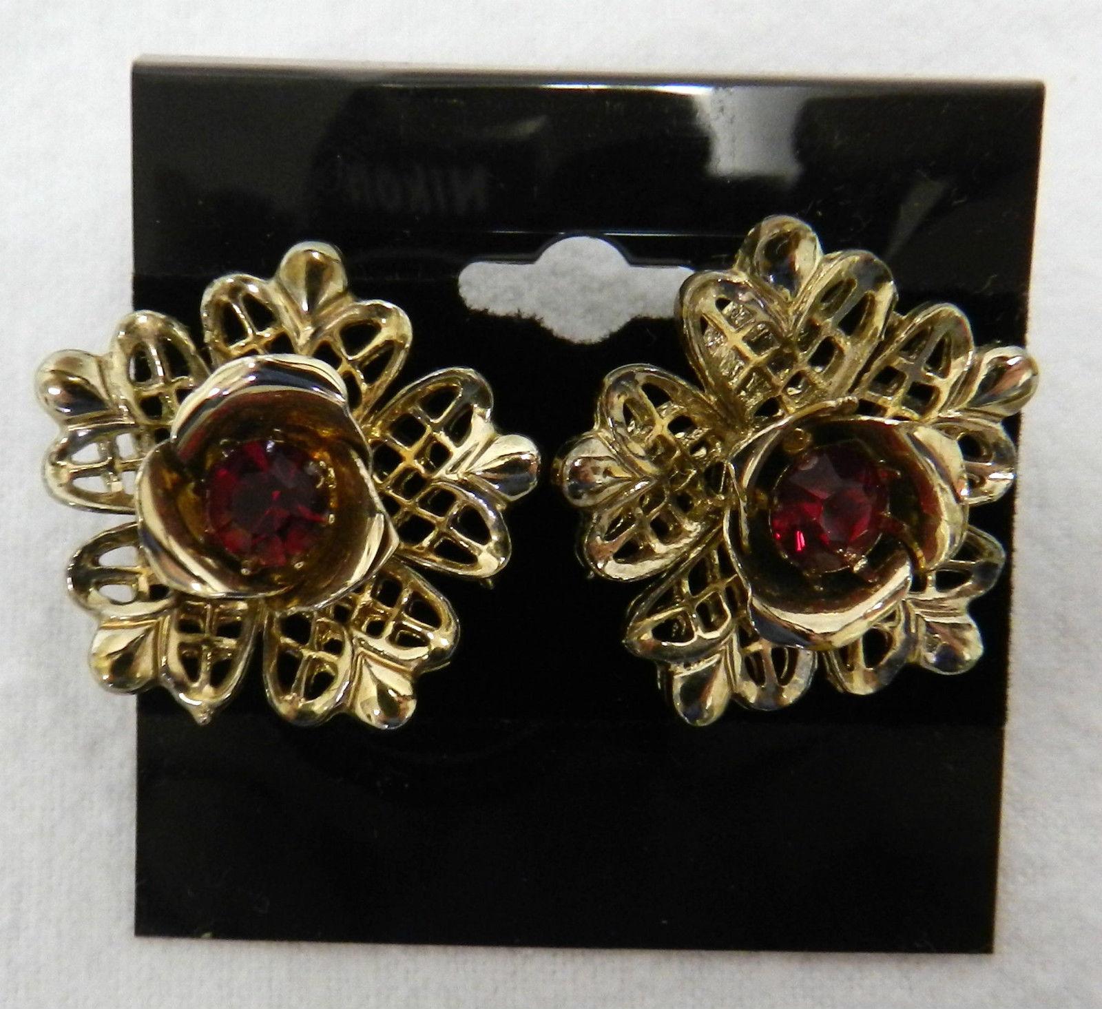 40fc0881b t2ec16vhjhye9nzpec4zbrsi 5fzbq 60 57. t2ec16vhjhye9nzpec4zbrsi 5fzbq 60 57.  Previous. Coro Ruby Red Stone Gold Tone Floral Flower Screw Back Clip  Earrings ...