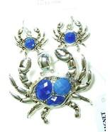 Crab Magnetic Pendant Earring Set Chesapeake Bay Crabs Blue Silver Beach... - $17.43