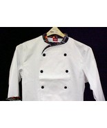Dickies Executive Chef Coat Pepper Lattice Trim 36 New - $19.57