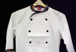 Dickies Executive Chef Coat Pepper Lattice Trim 34 New - $19.57