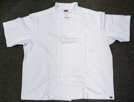 Dickies Jersey Unisex White Restaurant Uniform Chef S/S Coat Jacket S New - $19.57
