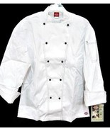 Dickies Executive Chef Coat Jacket CW070302 White with Black Stitch Trim... - $26.70