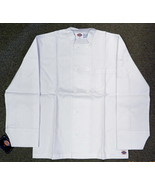 Dickies Restaurant Button Front White Uniform Chef Coat Jacket S New - $18.77