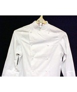 Dickies White Grand Master Chef Coat CW070101 Jacket Egyptian Cotton Twi... - $35.25