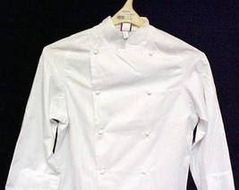 Dickies White Grand Master Chef Coat CW070101 Jacket Egyptian Cotton Twi... - $35.61