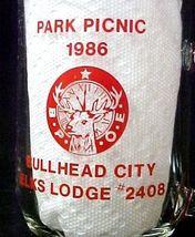 Elks Lodge No 2408 Bullhead City Park Picnic 1986 BPOE Glass Mug image 3