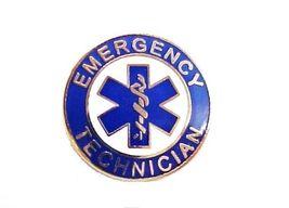 Emergency Technician Uniform Collar Device Pin Blue Gold Star of Life 60G2 New image 2
