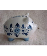 A Delft Blue Piggy Bank From Aruba - $20.00