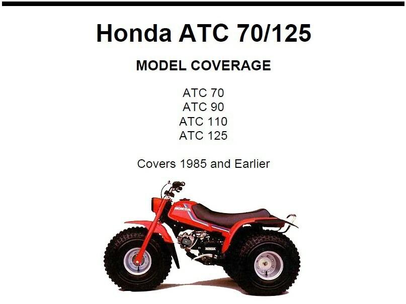 honda atc 70 90 110 125 service repair and 31 similar items rh bonanza com 1981 Honda ATC 110 Honda 125 ATC Pull Start