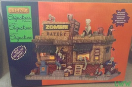 Lemax Halloween Spooky Town Village Zombie Eatery Signature Collection B... - $54.99