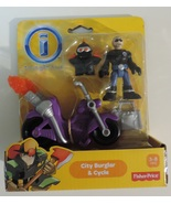 Imaginext City Burglar & Cycle set # X7616 - New - $7.00