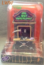 Lemax Spooky Town Ticket Booth Kiosk Grim Reaper Table Accent in Package - $20.99