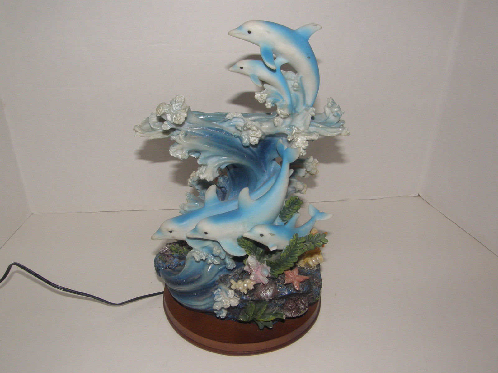 Led 5 Dolphins Coral Figurine Table Lamp and 50 similar items