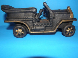 ANTIQUE CAST IRON CLASSIC CAR -HEAVY IN GREAT C... - $60.76