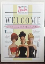 """barbie """"official barbie collectors club welcome"""" 1st date at eight - $18.70"""