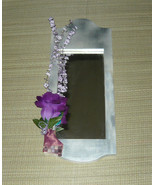 Cottage Chic Handcrafted Wood Mirror with Floral Plus - $20.00