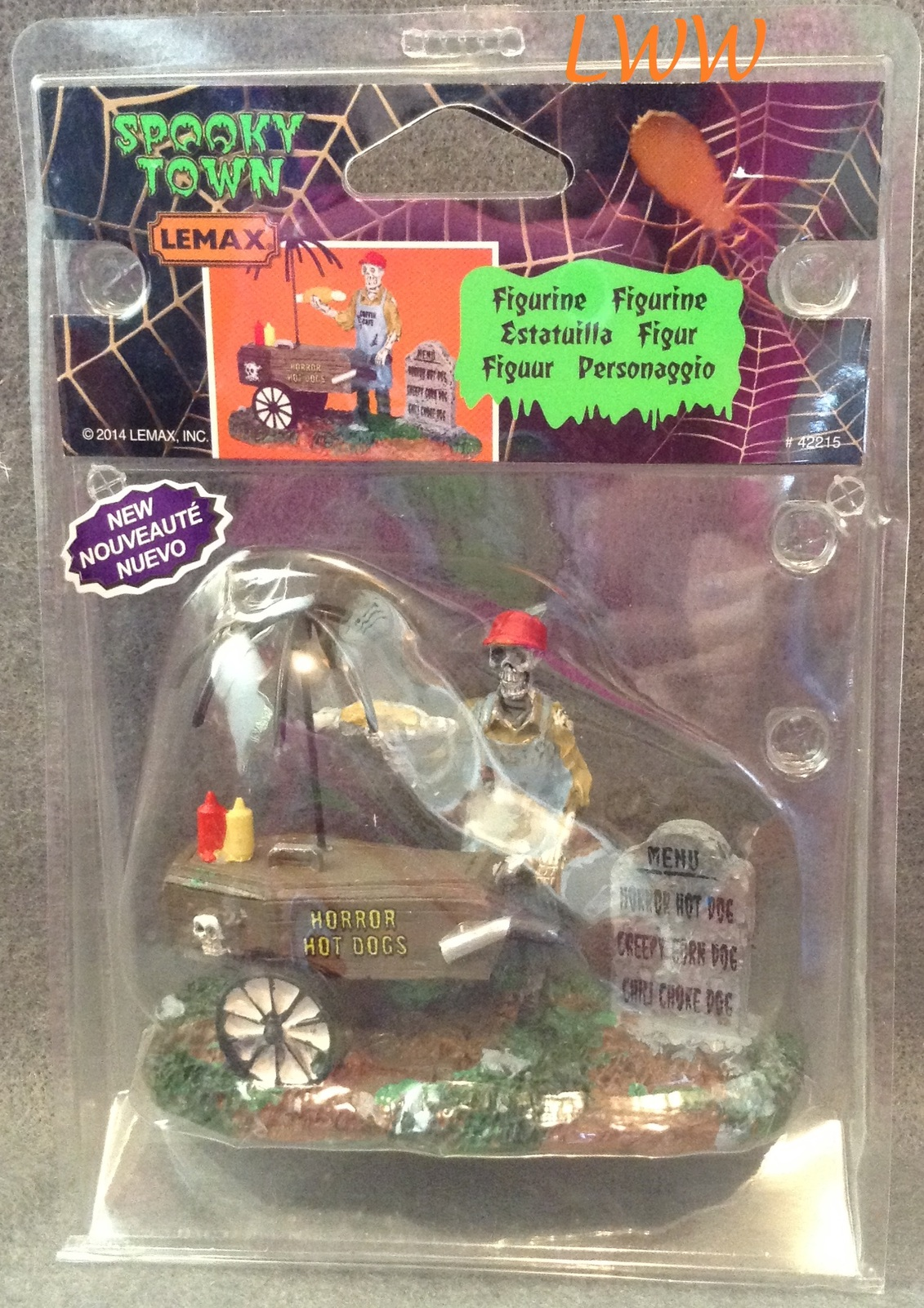 Halloween Lemax Spooky Town Village Ghoul Hot Dog Vendor Accessory Figure
