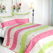 [Colorful Life] Cotton 2PC Vermicelli-Quilted Patchwork Quilt Set (Twin Size) - $110.99