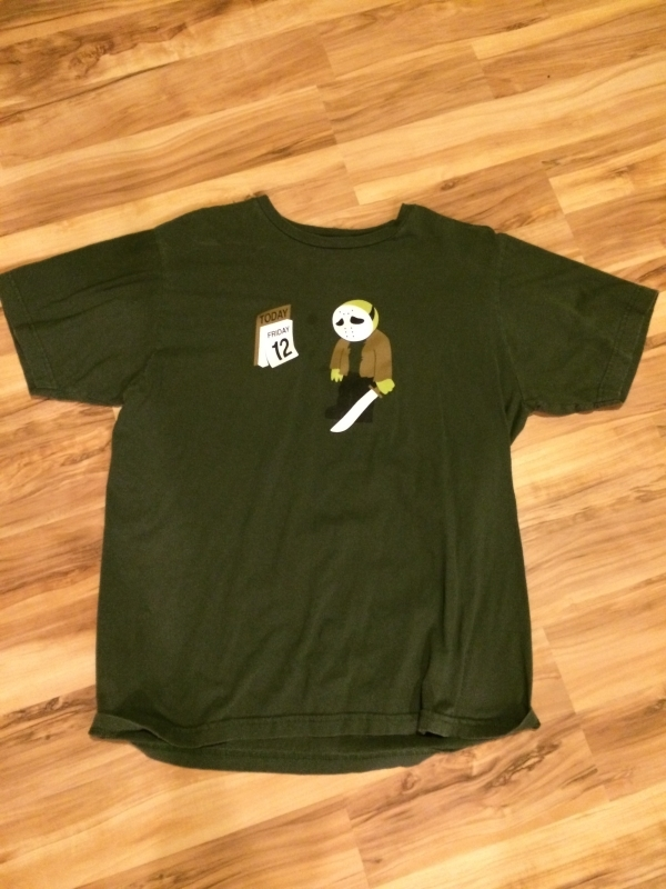 Friday the 12th BUMMER. Funny green t-shirt men's L