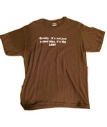 Large Men's T-shirt: Gravity, It's Not Just a G... - $30.00