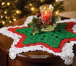 W702 Crochet PATTERN ONLY Seeing Stars Christmas Doilies Pattern - $7.50
