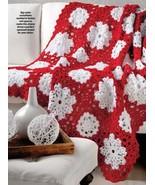 W723 Crochet PATTERN ONLY Winter Wonderland Snowflake Afghan Pattern - $7.45