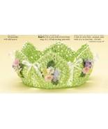 W737 Crochet PATTERN ONLY Paper Ribbon Basket P... - $6.45