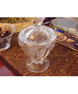 Lenox Butterfly Meadow Clear Crystal Sugar Bowl with Lid - $21.00