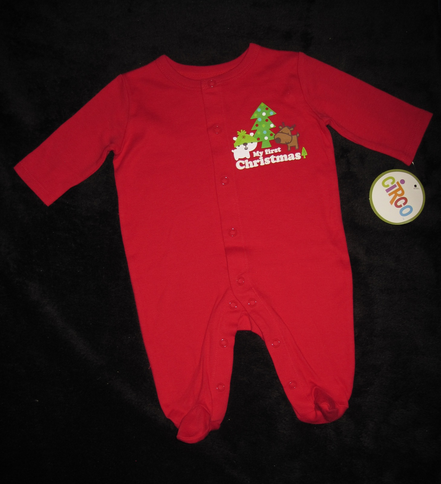 INFANTS 0-3 MONTHS - Circo - Footed My First Christmas Red SLEEPER - $10.00