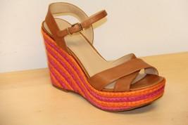 NIB Via Spiga EVELINA Wedge Espadrille Platform Sandals Sz 9.5 M  Cinnamon - $53.03