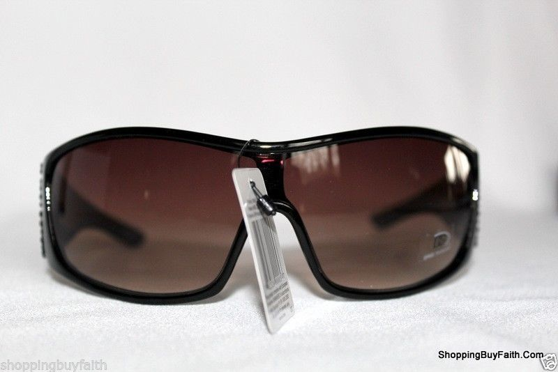 9d3e953dab Sunglasses Rectangle Rhinestone DG Logo Animal Print Case Chic Shades NEW