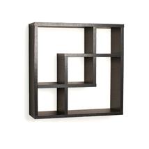 Danya B Geometric Square  Wall Shelf with 5 Openings-Black 1312-FF4513B - $42.49