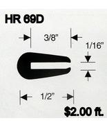 Black Rubber U Channel Push On  Edge Trim 1.587 mm Opening HR-69D Sold B... - $2.00