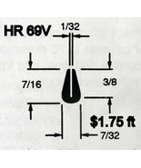 Black Rubber U Channel Push On Edge Trim 0.793 mm Opening HR-69V Sold By... - $1.75