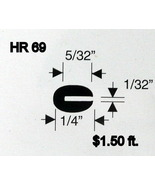 Black Rubber U Channel Push On Edge Trim 0.793 mm Opening HR-69 Sold By ... - $1.50