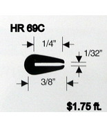 Black Rubber U Channel Push On Edge Trim 0.793 mm Opening HR-69C Sold By... - $1.75