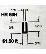 Black Rubber U Channel Push On Edge Trim 1.587 mm Opening HR-69H Sold By... - $1.50