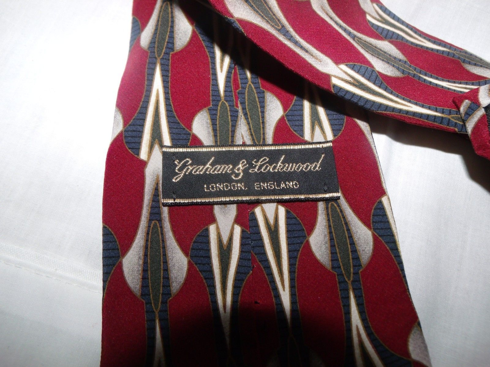 Graham & Lockwood Silk Neck Tie London England