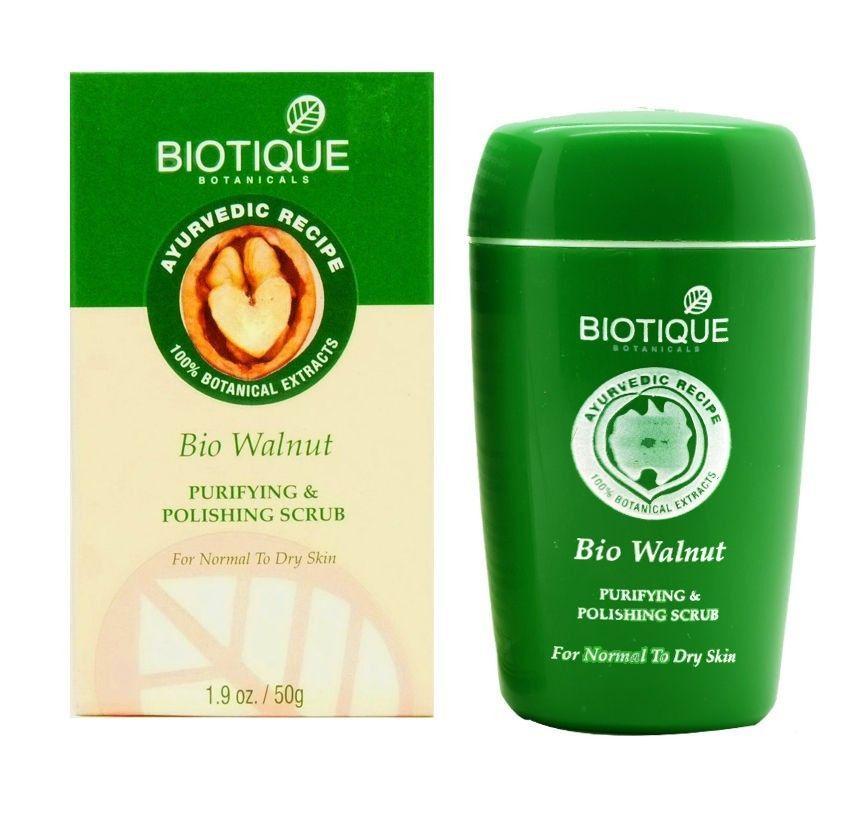 Biotique Bio Walnut Scrub Purifying and Polishing Scrub Normal to Dry Skin 50g