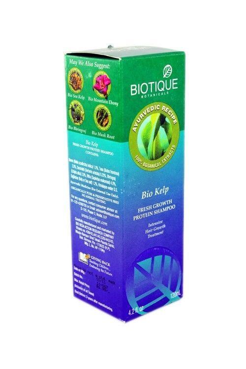 Biotique Bio Kelp Fresh Growth Protein Shampoo Hair Growth Treatment 120ml