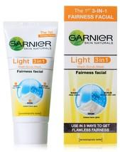 Garnier Light 3 in 1 Fairness Facial 50g (Pack of 2) - $7.43