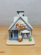 PartyLite Bakery Tea Light Candle Holder House Porcelain Retired - $17.09