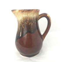 Roseville Brown Drip Glaze RRP USA Pitcher Vintage Pottery Ceramic - $19.34