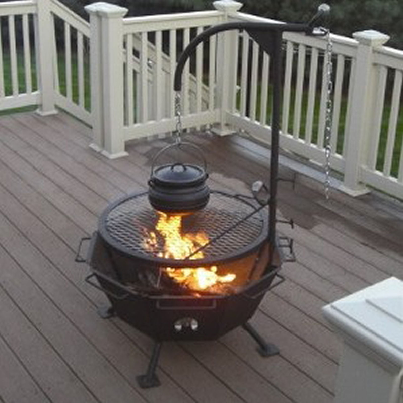 Backyard Fire Pit Stainless Steel Outdoor Cooking All-in