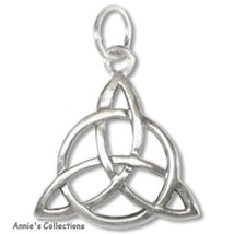 Triquetra Sterling Silver Trinity Knot Pendant Charm Classic Images - $16.00