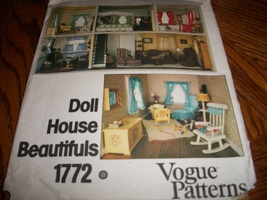 Vogue Patterns Doll House Beautifuls 1772 - $28.00