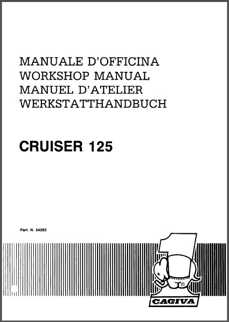 87-89 Cagiva Cruiser 125 Service Repair Workshop Manual CD