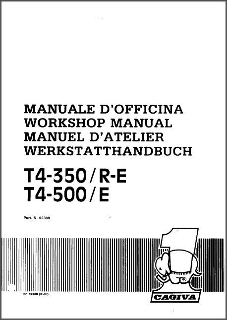 87-91 Cagiva T4-350 / T4-500 E R Service Repair Workshop Manual CD