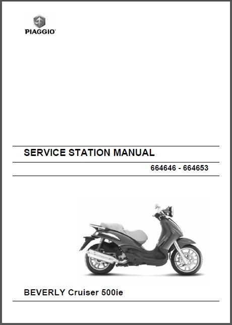 Piaggio Beverly Cruiser 500 i.e Service Repair Workshop Manual CD --- Bev 500ie