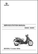 Piaggio Beverly Cruiser 500 i.e Service Repair Workshop Manual CD --- Be... - $12.00